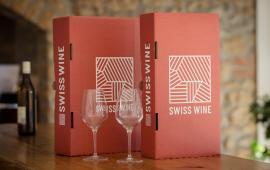 carton d'expédition Swiss Wine et Model